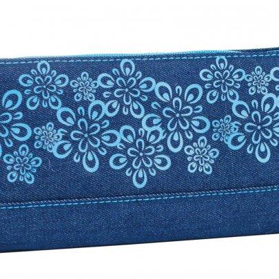 Пенал мягкий 1 Вересня YES. Blue Weave, косметичка, 20,5*8,5*2,5