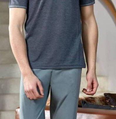 Домашний костюм с брюками мужской Cocoon. Модель bone 4392 gri