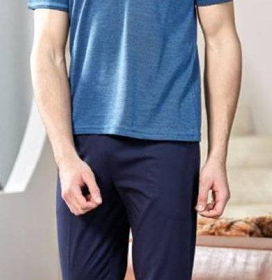 Домашний костюм с брюками мужской Cocoon. Модель bone 4393 laci