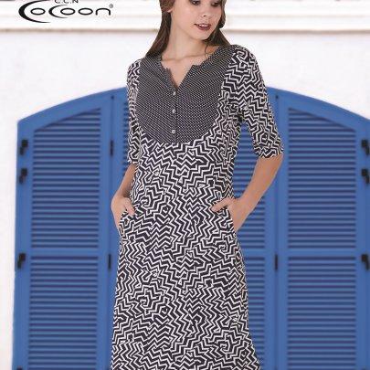 Прогулочное платье Cocoon. Модель 20122
