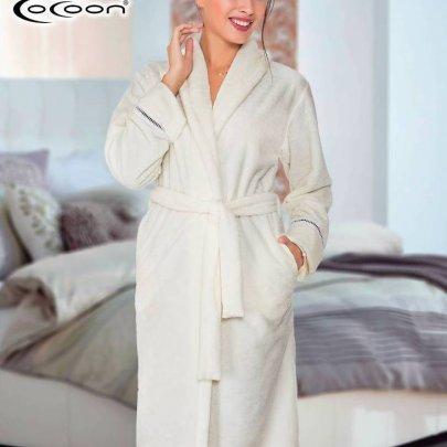Халат женский микро welsoft Cocoon. 05-5197 ekru