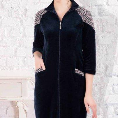 Халат женский велюровый Cocoon. 12-1440 laci