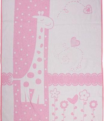Хлопковое детское одеяло Vladi Люкс. Чунга-Чанга розовый, размер 100х140 см
