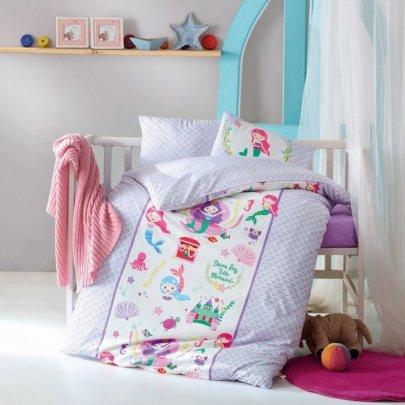 Постельное белье в детскую кроватку Cotton Box. Deniz Kizi Lila