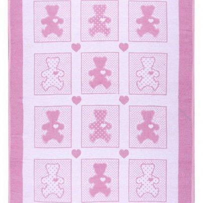 Детское хлопковое одеяло Vladi. Барни розовое