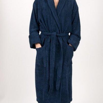 Махровый халат TAC. Maison Dark Blue