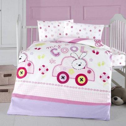 Постельное белье в детскую кроватку Arya. Ранфорс Coll Baby розовый