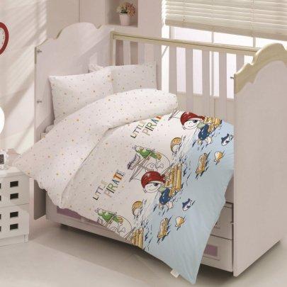 Постельное белье в детскую кроватку Arya. Ранфорс Little Pirate