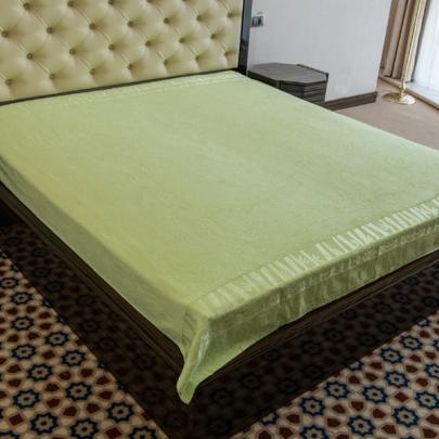 Простынь бамбуковая Hanibaba. Exclusive зеленого цвета