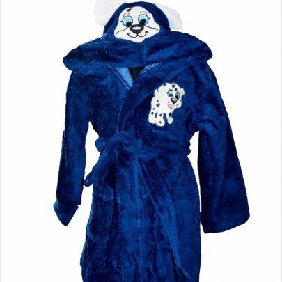 Халат детский махровый Nusa. Песик синий
