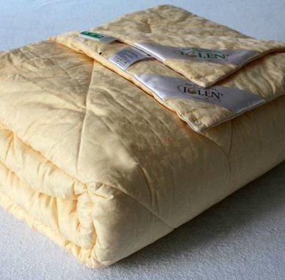 """Одеяло """"Iglen"""" зимнее шерстяное в тике в ассортименте"""