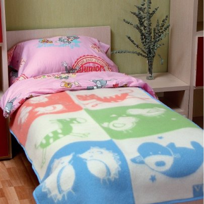 Одеяло Vladi Сказка детское, новозеландская шерсть, размер 110х140