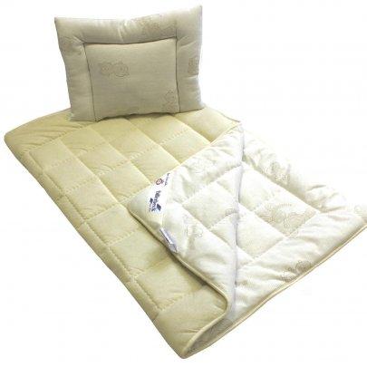 Комплект Billerbeck Бамбино, одеяло+подушка, овечья шерсть, 110х140+40х55