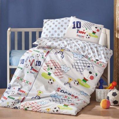Постельное белье в детскую кроватку Cotton Box. Futbol Mavi