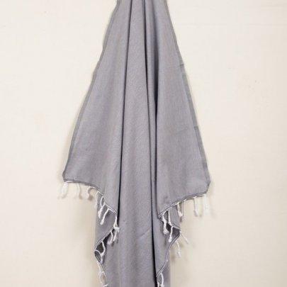 Пляжное полотенце Barine. Pestemal Engin Grey серое