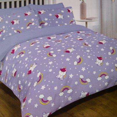 Постельное белье в детскую кроватку  Viluta. 17167 лилового цвета