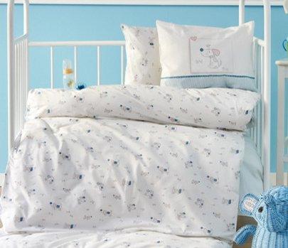 Постельное белье в детскую кроватку Karaca Home. Ранфорс Woof