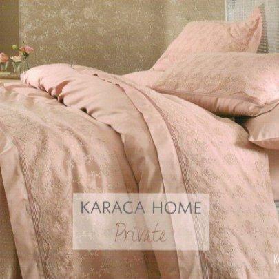 Постельное белье с покрывалом пике Karaca Home. Karya pudra пудра