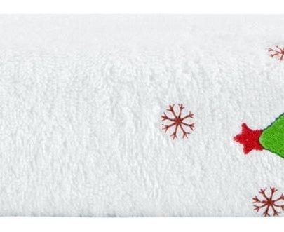 Махровое полотенце Arya. Christmas Lucia белого цвета