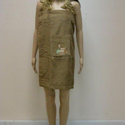 Набор для сауны махровый женский Mariposa коричневый, 3 предмета