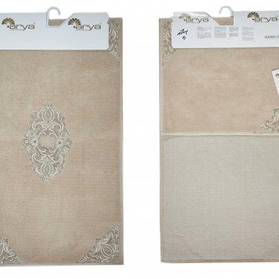 Набор ковриков для ванной Аrya из Гипюра. Marlow бежевый, 2 предмета