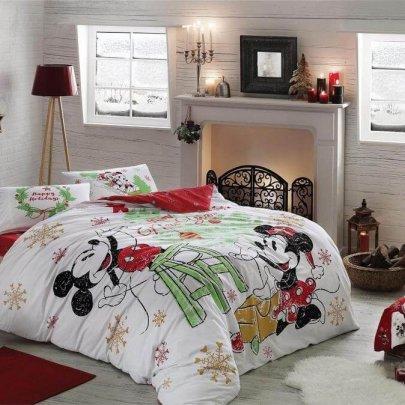 Постельное белье TAC. Disney M&M Yeni Yil (простынь на резинке)