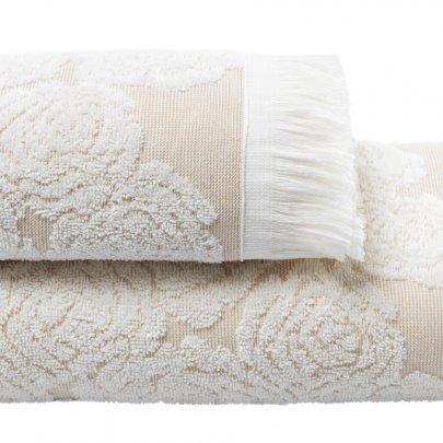Махровое полотенце Arya. Жаккард Way Ecru