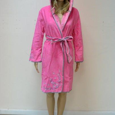 Nusa, халат женский, модель 00615 фуксия