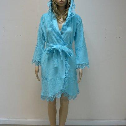 Nusa, халат женский, модель 031 бирюзового цвета