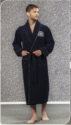 Халат мужской Nusa. 2820 синего цвета