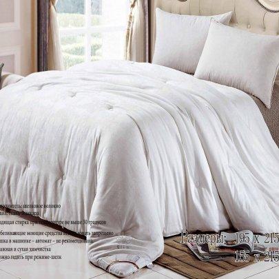 Одеяло шелковое Love You белого цвета