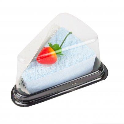 Полотенце Пирожное голубое в подарочной упаковке, размер 20x20