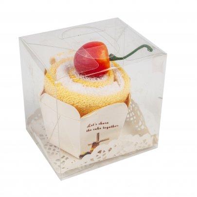 Набор полотенец Кекс ванильный в подарочной упаковке, размер 20x20 (2шт)
