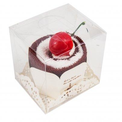 Набор полотенец Кекс кофейный в подарочной упаковке, размер 20x20 (2шт)