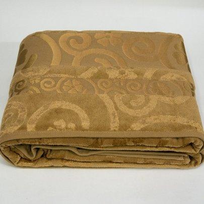 Простынь велюровая с рисунком Cestepe. Bamboo Gold