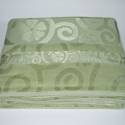 Простынь велюровая с рисунком Cestepe. Bamboo Green