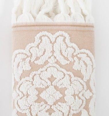 Махровое полотенце Irya. Jakarli Calisto ekru