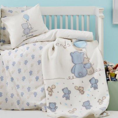 Постельное белье в детскую кроватку Karaca Home. Blue Bears
