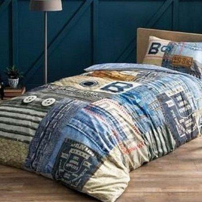 Подростковое постельное белье TAC. Ranforce Teen Blue Jeans