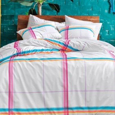 Подростковое постельное белье TAC. Ranforce Teen Energy бирюзовый