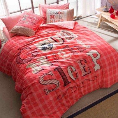Подростковое постельное белье TAC. Ranforce Teen Good Night розовый