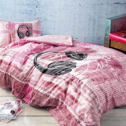 Подростковое постельное белье TAC. Ranforce Teen Listen розовый