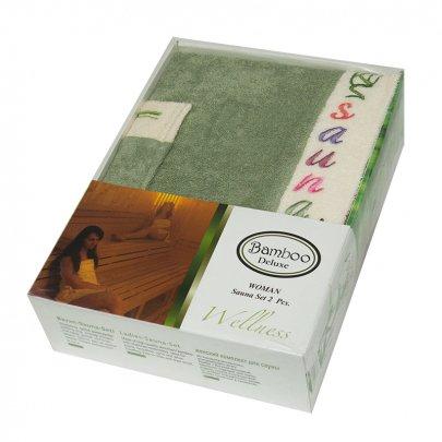 Набор для сауны женский Gursan Bamboo, зеленый, 2 предмета