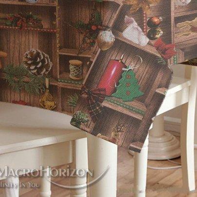 Скатерть Новогодняя Праздничная MacroHorizon Испания Querubin овальная
