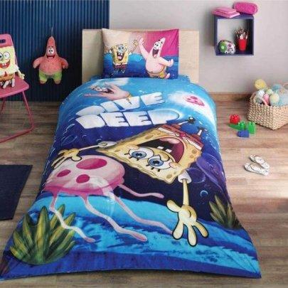 Детское постельное белье TAC. Sponge Bob Dive Deep