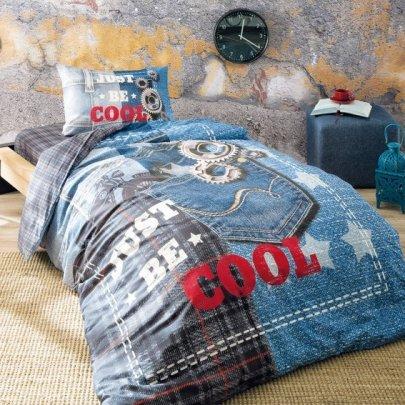 Подростковое постельное белье TAC. Ranforce Teen Cool голубого цвета