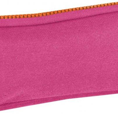 Пенал мягкий 1 Вересня YES, розовый с набором значков, 19*7*3 см