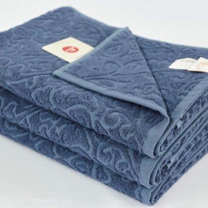 Бамбуковое махровое полотенце Arya. Duane синий