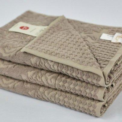 Бамбуковое махровое полотенце Arya. Flavia темно-бежевый