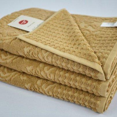 Бамбуковое махровое полотенце Arya. Flavia горчичный